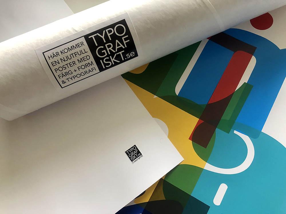 Leverans tub + etikett + poster